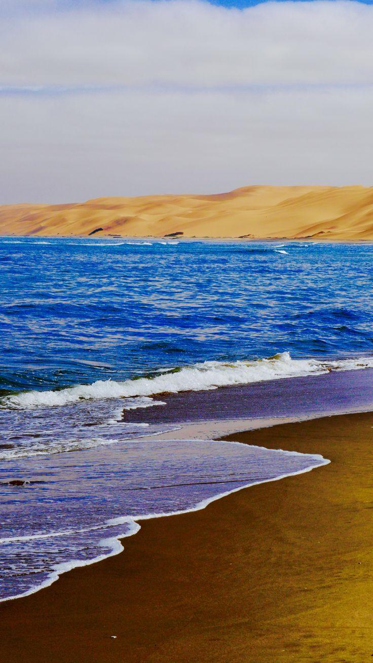 Golden #beach of #Namibia #desert