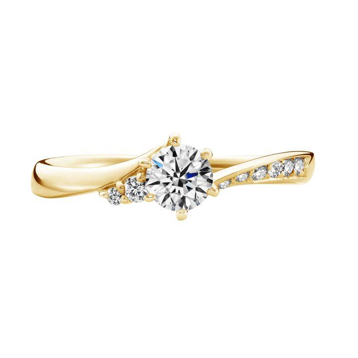 プリュム Plume-エンゲージリング-イエローゴールド-リング ... 婚約指輪 エンゲージリング プリュム