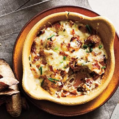 Cooking Light's Favorite Healthy Dip Recipes: Caramelized Onion, Gruyère, and Bacon Spread | CookingLight.com