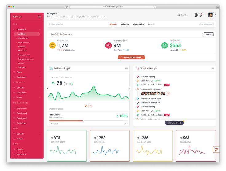30 Free Bootstrap Admin Dashboard Templates 2020