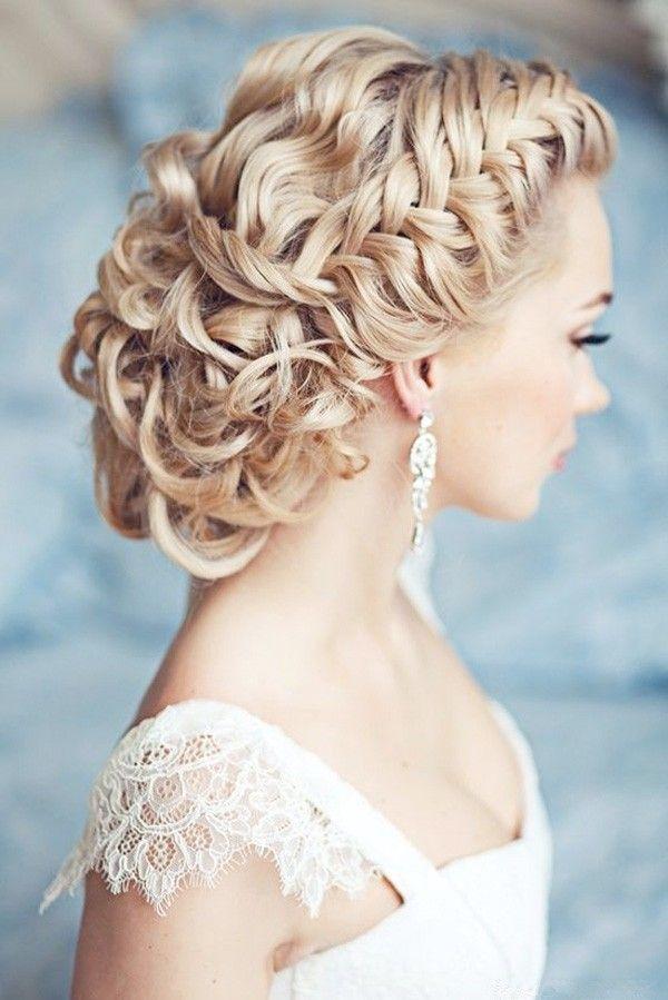 March wedding boho chic hair, Vintage spring wedding hairstyle, March wedding lace off-the-shoulder wedding dress www.loveitsomuch.com