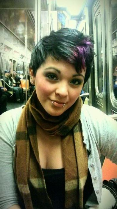 pixie/faux hawk...love cut and color. If only I could pull off a cute little cut like that