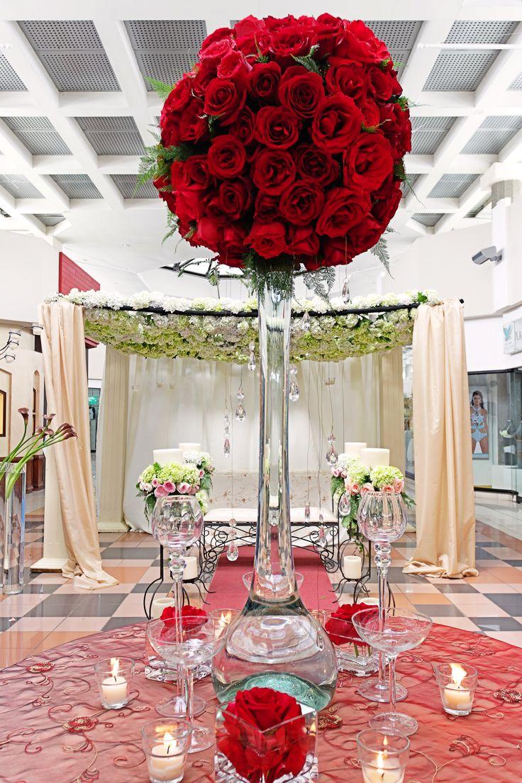 9 best centros de mesa altos images on pinterest tall - Arreglos de mesa ...