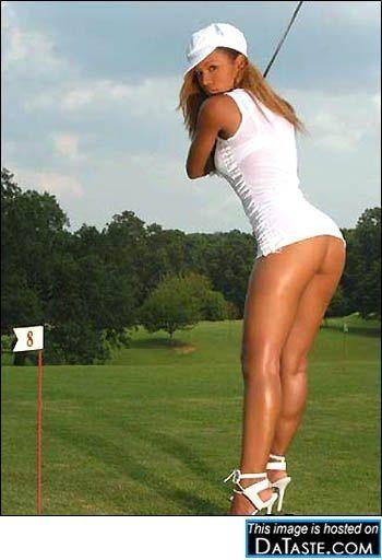 Female sex golf ball cleaner