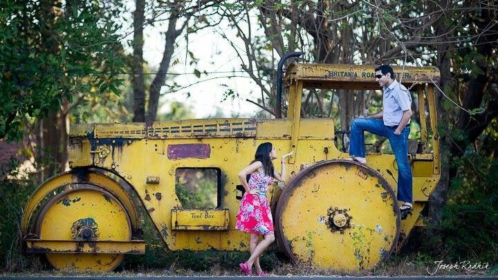 Indian wedding photography, fun couple engagement shoot |Stories by Joseph Radhik