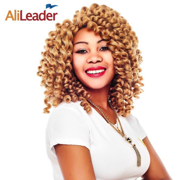 AliLeader Crotchet Twist Braid Hair Jumpy Wand Curl Pre Loop Crochet Hair Kanekalon Braiding Hair Colors Afro Hair Extension