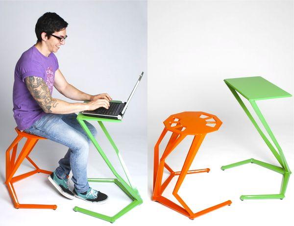 Ergo Stool+Table By Adam Senior