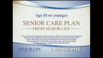 With the average cost of a funeral at over $7500, Senior Life Insurance Cover is here to help ensure your loved ones aren't burdened with your debt.- iSpot.tv