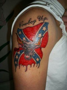 Rebel Flag Cross Tattoos | ... of american eagle as star ...