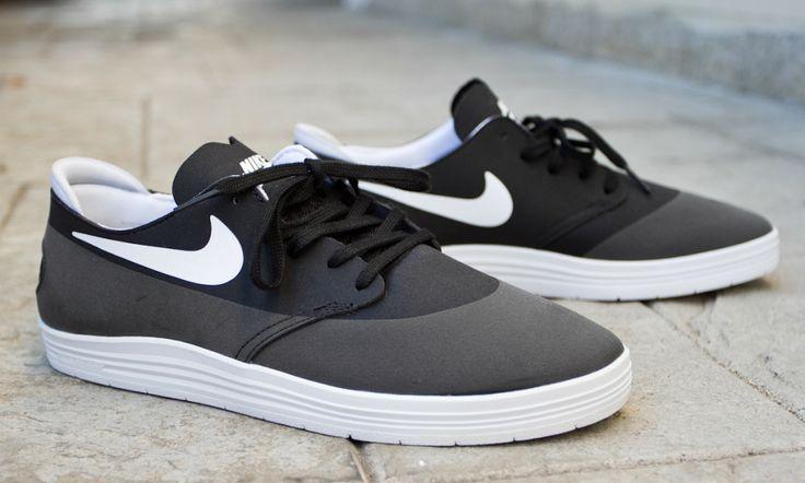 f84b2de8bb44 ... black white 008 nike sb lunar one shot the freshest skate shoes  pinterest ...
