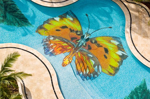 Pool With Mosaic Glass Trend Collections