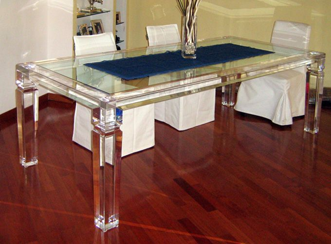 Great Acrylic Dinner Table U0027Afroditeu0027 2500x1200h750mm