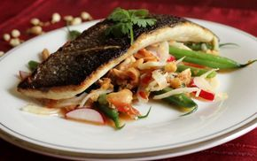 Recipe for Thai Salad with Crispy Sea Bass Fillets // A Recipe For Gluttony Blog