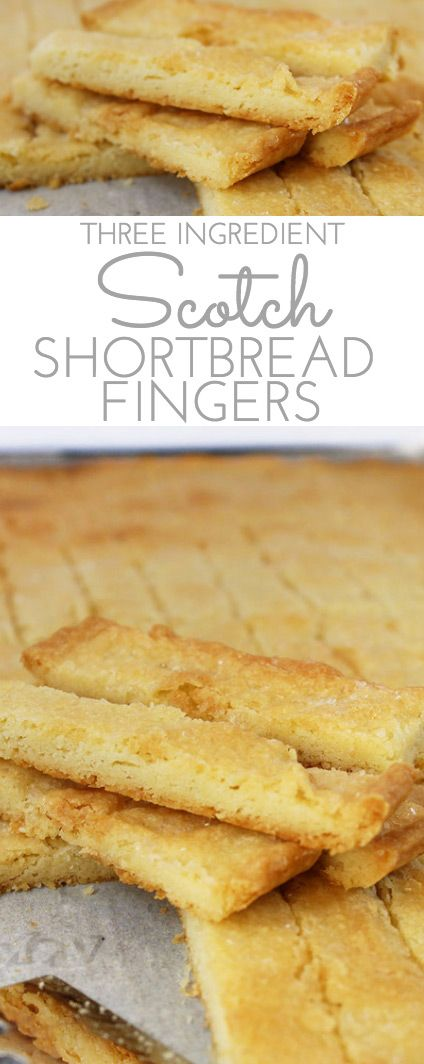 Easy Scotch Shortbread Fingers: if you're a shortbread lover, this easy recipe is for you. Golden and buttery, this shortbread has just three ingredients: butter, flour and sugar.