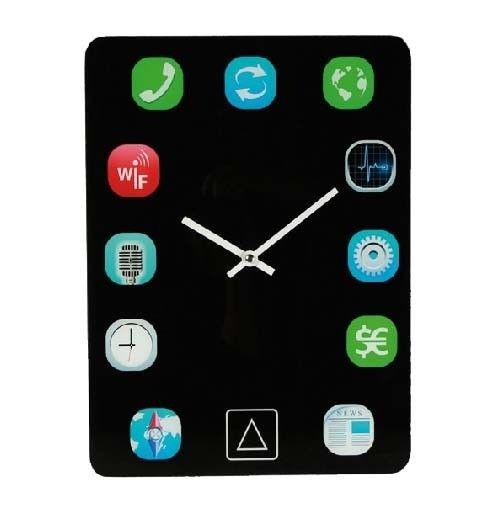 Ceas de perete iPad  este un ceas de perete cu design iPad. Ceas de perete iPad arată exact ca un iPad.