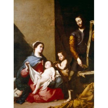 The Holy Family by Jusepe de Ribera (1591-1652) Spain Toledo Iglesia Santa Cruz Canvas Art - Jusepe de Ribera (24 x 36)