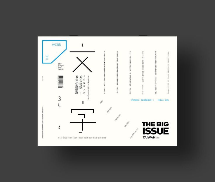 THE WORDThe Big Issue Taiwan34CoverClient—The Big Issue TaiwanYear—2013