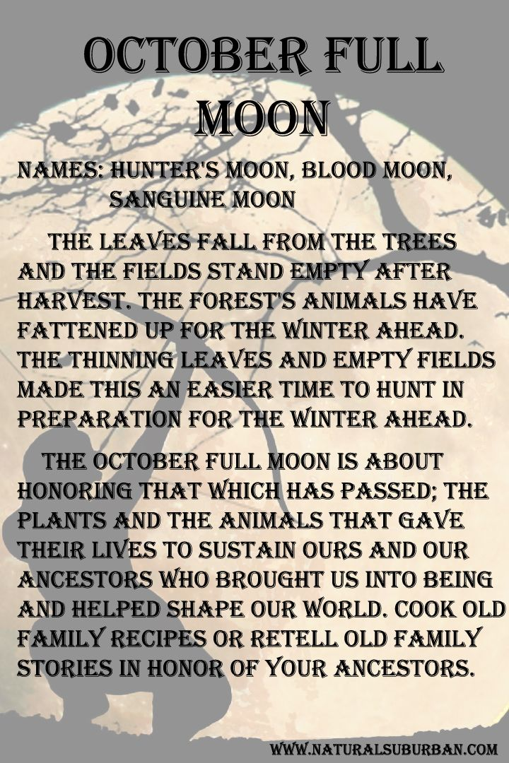 Hunters Full Moon October 27, 2015