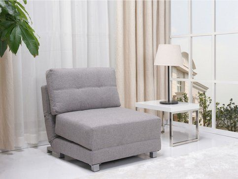 Amazon.com - New York Contemporary Ash Grey Convertible Sleeper Chair Modern Sofa Couch Bed -