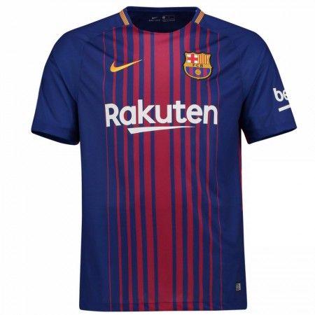 Barcelona Hjemmebanetrøje 17-18 Kort ærmer  #Billige Fodboldtrøjer
