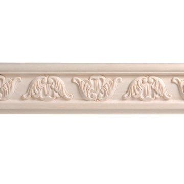 8 X 3 3/16 SCROLL CHAIR RAIL MOLDING