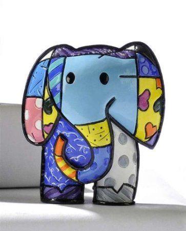 Amazon.com: Miniature Elephant Figurine by Romero Britto: Home & Kitchen
