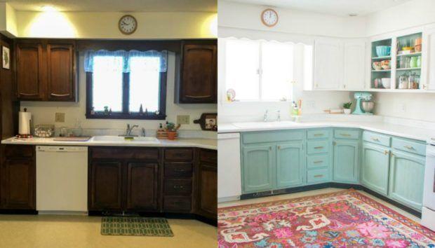 DIY: Μια Γυναίκα Μεταμόρφωσε Εντελώς Την Κουζίνα Της Με 230 Ευρώ!