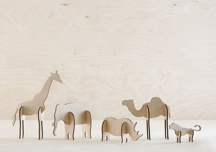 Wooden animals, so cute, so stylish!
