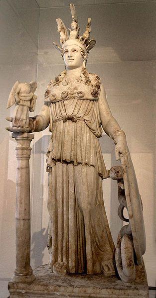 Αθηνά Βαρβακείου Μαρμάρινο αντίγραφο του 2ου αιώνα μ.Χ.  (αναπαριστά μάλλον το χρυσελεφάντινο άγαλμα του Φειδία της Ακρόπολης)
