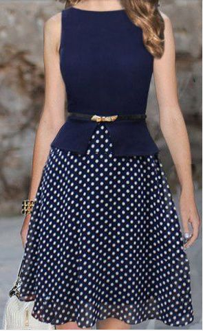 LOVE LOVE LOVE this dress. I like the length and full skirt. I am ok with it being sleeveless. But if it had sleeves that would have been ok too. CMM Women's Belts - http://amzn.to/2id8d5j