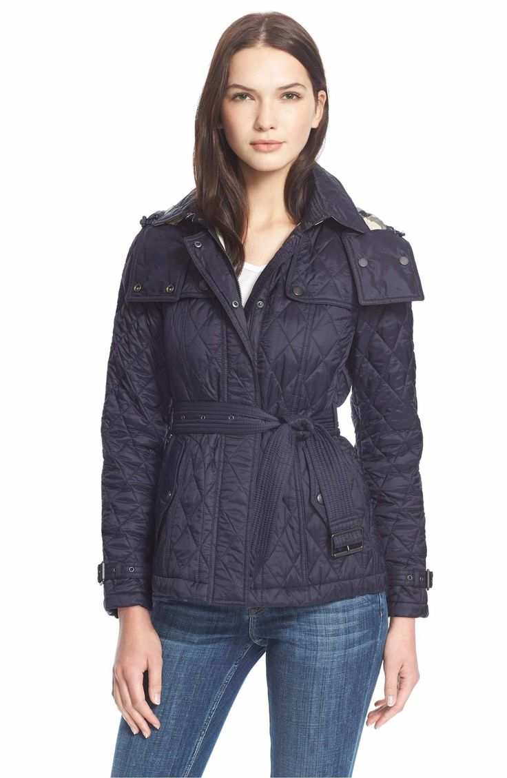 Main Image - Burberry Brit 'Finsbridge' ShortQuilted Jacket