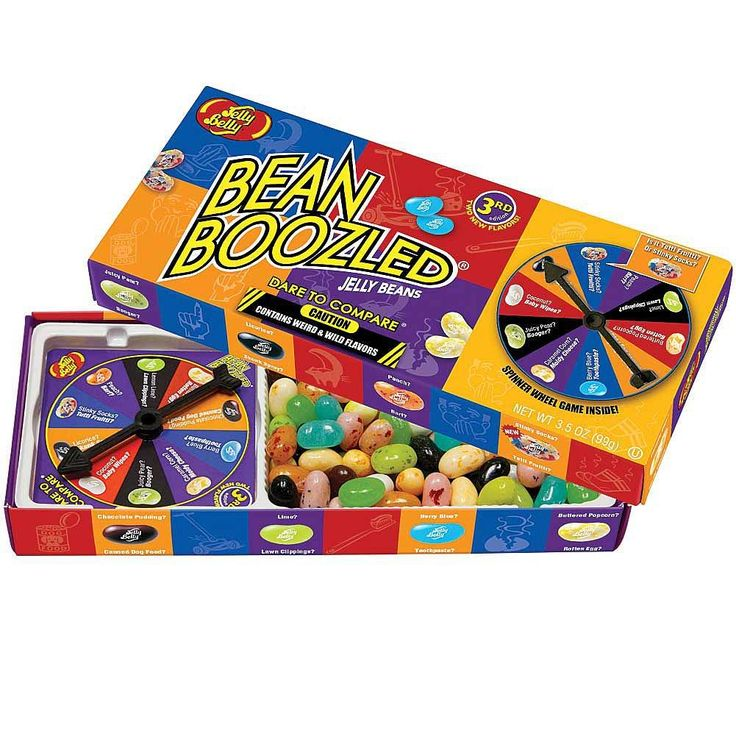 Jelly Belly Bean Boozled Jelly Beans 3.5 oz with Spinner Wheel Game, 3rd Edition