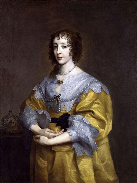 Henriette-Marie de France, Queen of England & Scotland (1609 - 1669) / By Van Dyck, ca.1630