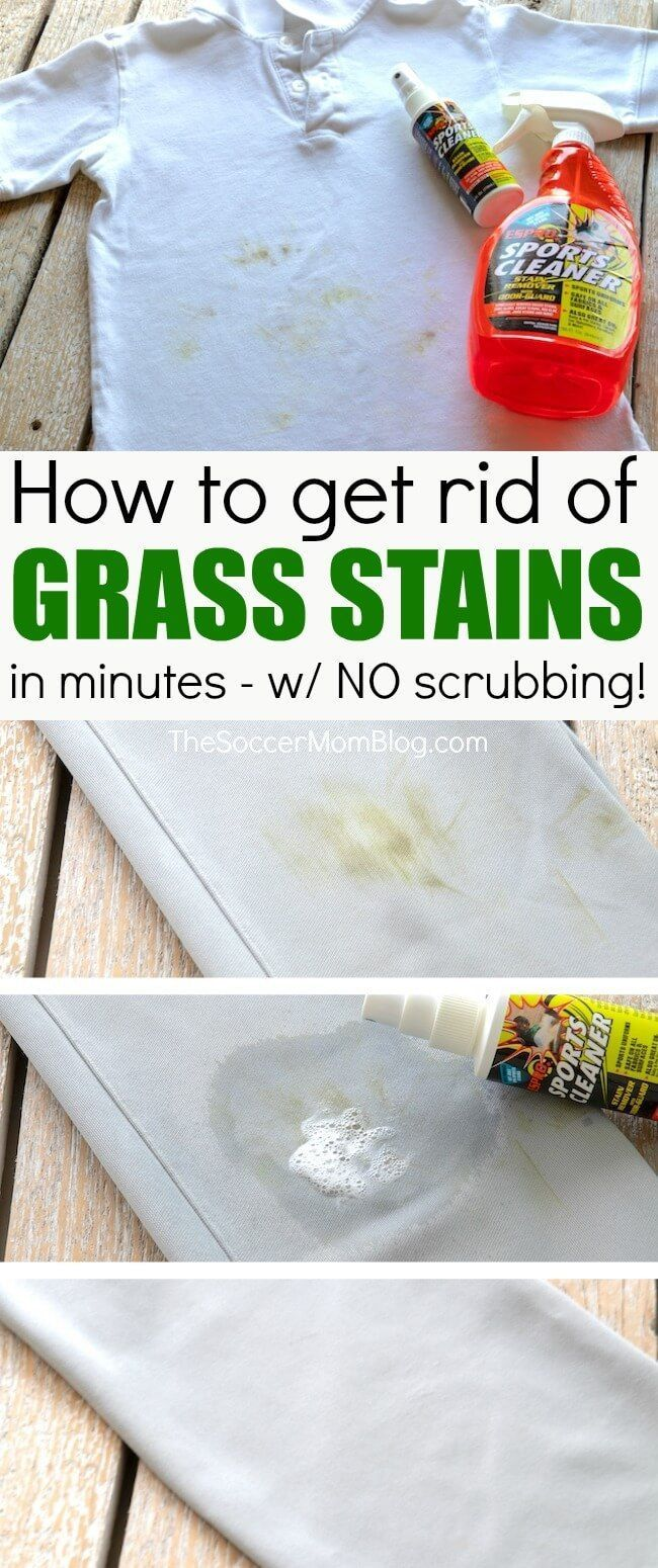How To Remove Grass Stains Without Scrubbing Grass Stain Remover Grass Stains Cleaning Hacks