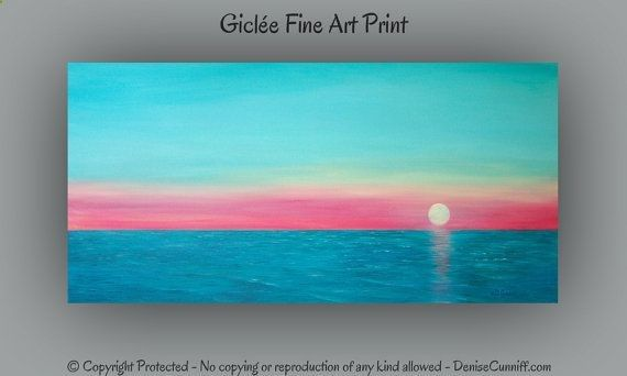 Large wall art Seascape fine art print Teal  by ArtFromDenise, $48.00