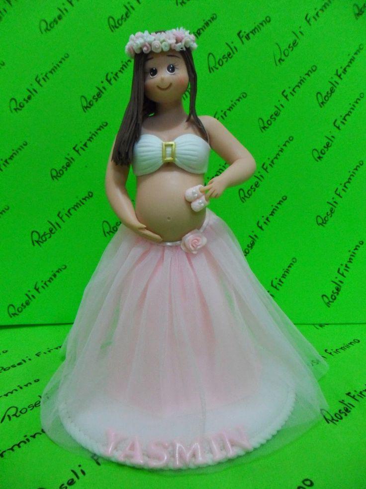 ROSELI NO MUNDO DO BISCUIT: Topo do bolo para chá de bebê mamãe grávida