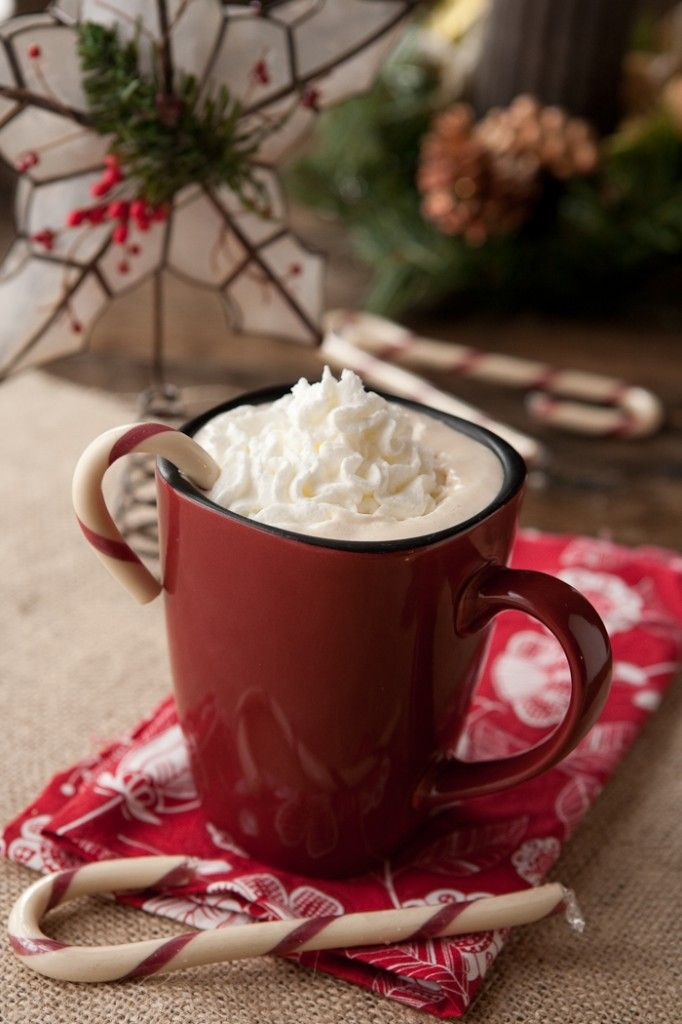Peppermint LatteCoffe Recipe, Food, Holiday Drinks, Christmas, Coffee Recipes, Candies Canes, Hot Chocolates, Peppermint Latte, Whipped Cream