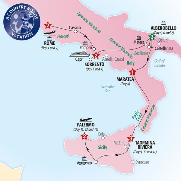 Read 3 reviews and enjoy exclusive savings on Insight Vacations's 14 Day Country Roads of Southern Italy & Sicily beginning your journey in Rome and travelling through to Palermo. 2016 & 2017 season departures.