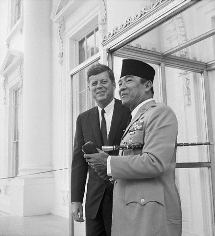 Soekarno & John Franklin Kennedy at the White House [United States of America]