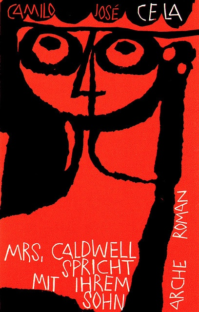 Camilo José Cela, Mrs. Caldwell spricht mit ihrem Sohn. Cover illustration by Hans Bächer.    sandiv999, via Flickr