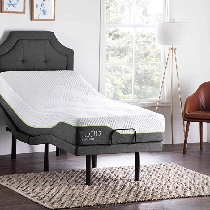 Amazon Com Lucid L300 Adjustable Bed Base 5 Minute Assembly Dual Usb Charging Stations Head And Adjustable Beds Adjustable Bed Base Adjustable Bed Frame