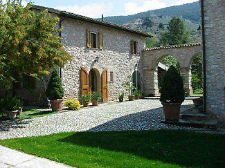 Italian Houses, Spoleto. Arches