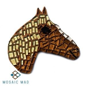 Mosaic DIY Project - HORSE BROWN & BEIGE , R49.00
