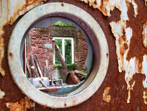 round cracked window - Google Search