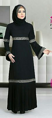 Dubai Kaftan Black Abaya Jalabiya Dress New Very Fancy Silk Wedding-Caftan hijab