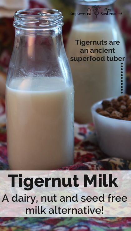 tigernut milk - a dairy/nut/seed free milk alternative
