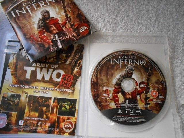 SONY PLAYSTATION 3 GAME BLU RAY PS3 GAME DANTE'S INFERNO COMPLETE