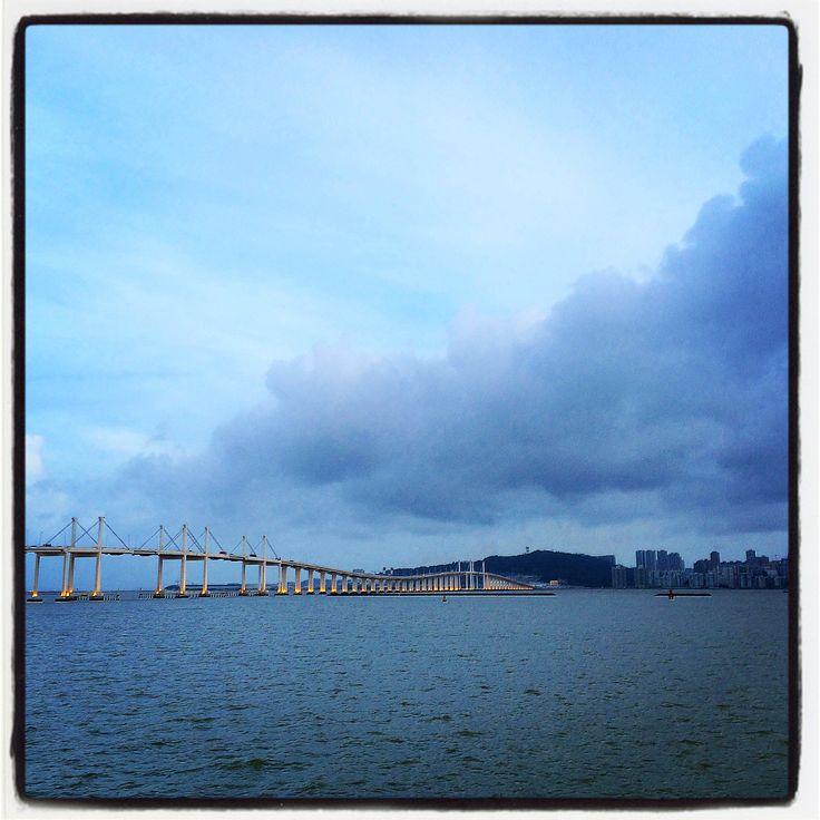 Macao Bridge at Sunset