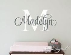 Nursery Wall Decal Personalized Names Wall Decals For Kids Madelyn Style Monogram