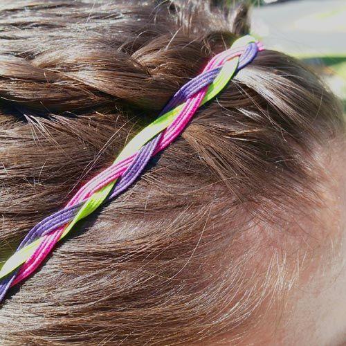 Braided skinny elastic headband tutorial